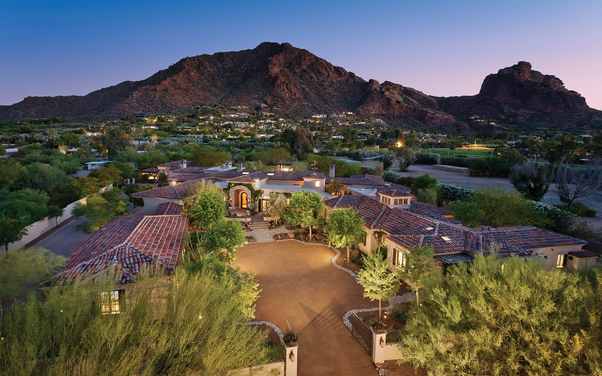 Elegant Transitional Contemporary Camelback Mountain Estate Paradise Valley